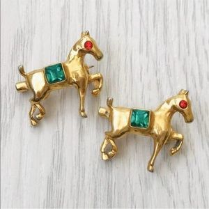 Jewelry - Vintage 1940s Trifari Horse Scatterpins Equestrian